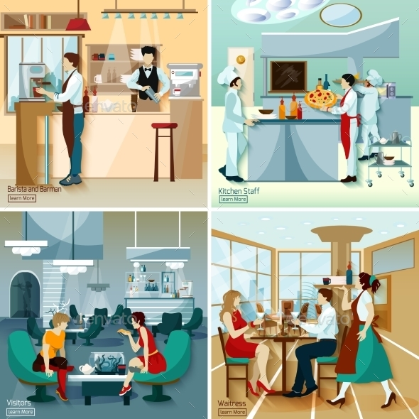 Restaurant People Design Concept - People Characters