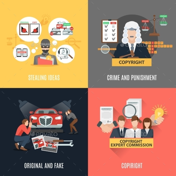 Compliance 4 Flat Icons - Abstract Conceptual