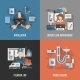 Plumbing Service 4 Flat Icons - GraphicRiver Item for Sale