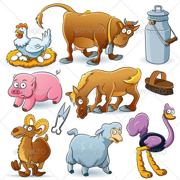 Farm Animals Collection - Animals Characters