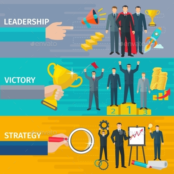 Leadership Banners Set - Concepts Business