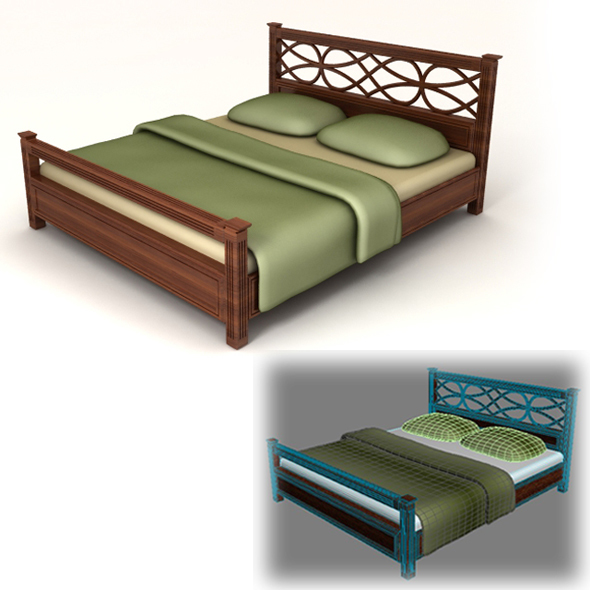 Bed classical - 3DOcean Item for Sale