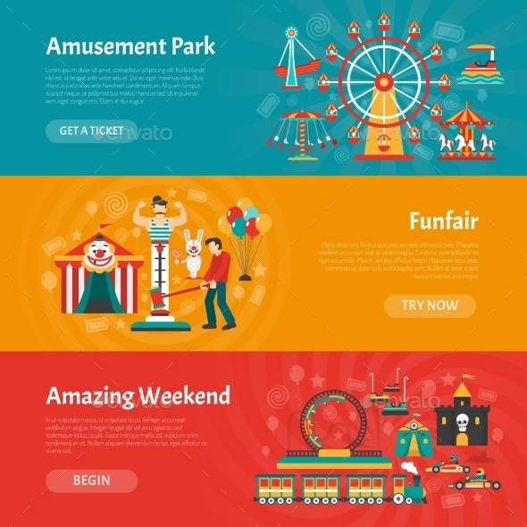 Funfair Banner Set - Industries Business