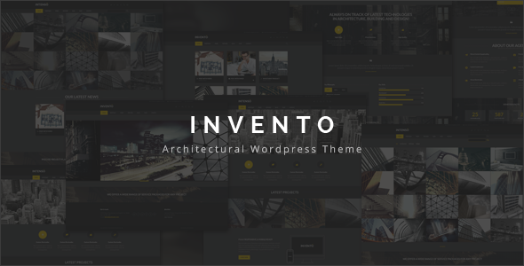 Invento | Architecture Building Agency Theme - Business Corporate
