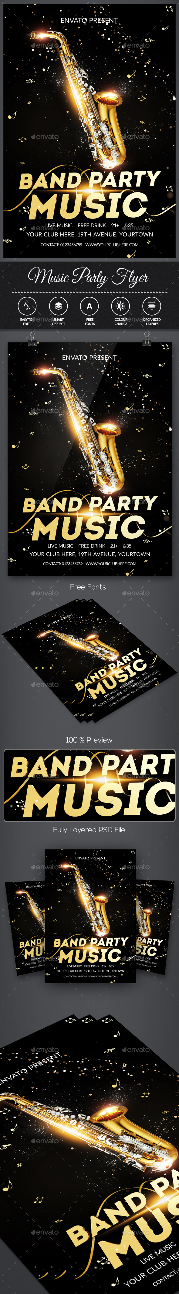 Band Flyer Templates - Events Flyers