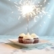Cupcake With Bow And Candle. Happy Birthday Card. Holidays Greeting Card. - VideoHive Item for Sale