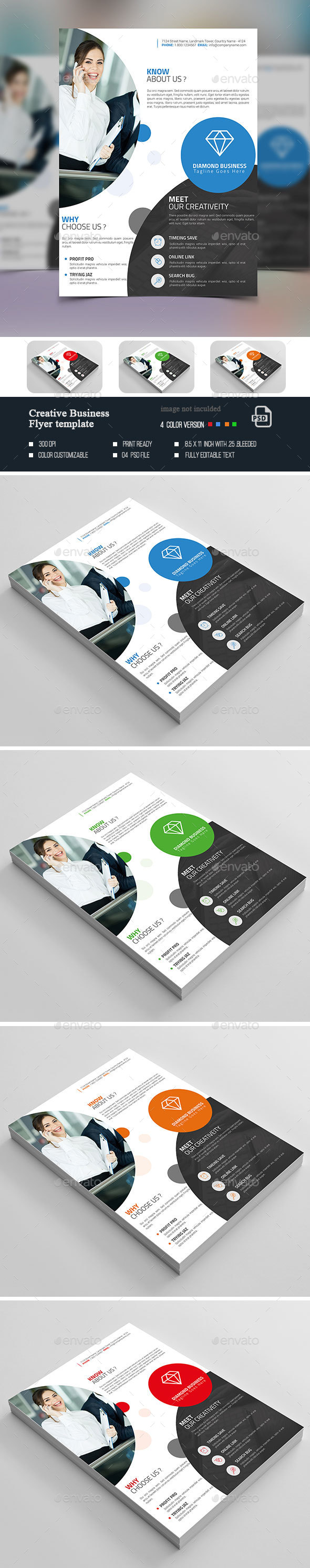 Creative  Flyer Template - Flyers Print Templates