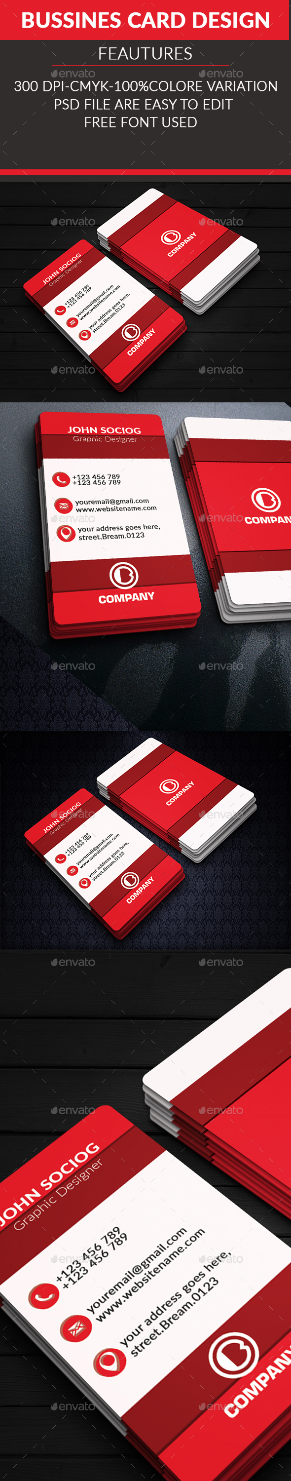Corporate Business Card 2 - Business Cards Print Templates