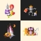 Fairy Tales Flat Design Magic Cartoon Characters - GraphicRiver Item for Sale