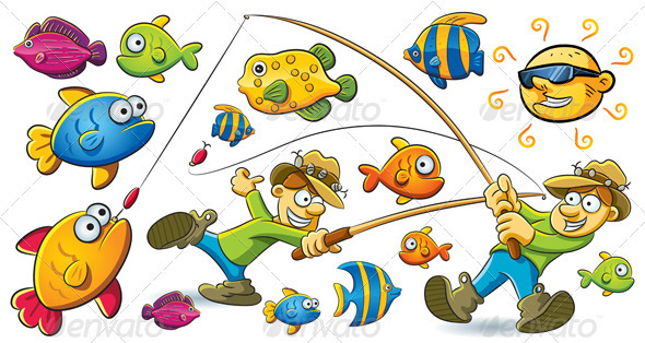 Fishing Man - Characters Vectors