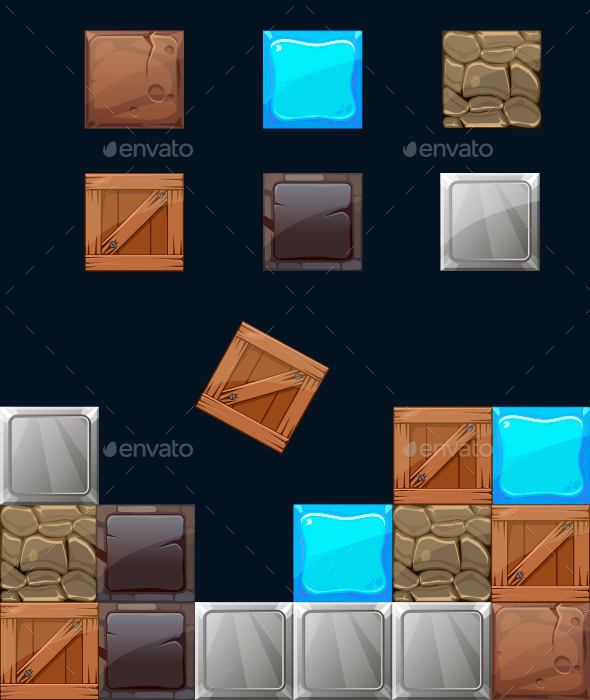 Different Materials and Textures for a Game - Miscellaneous Vectors