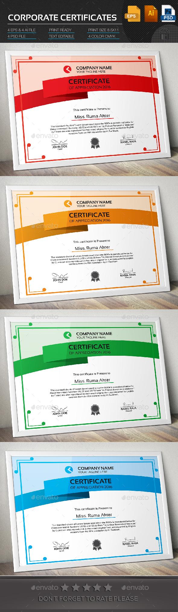 Corporate Certificate - Certificates Stationery