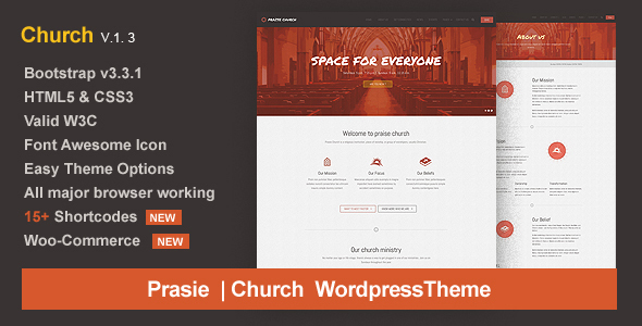 Praise Church – Responsive WordPress Theme