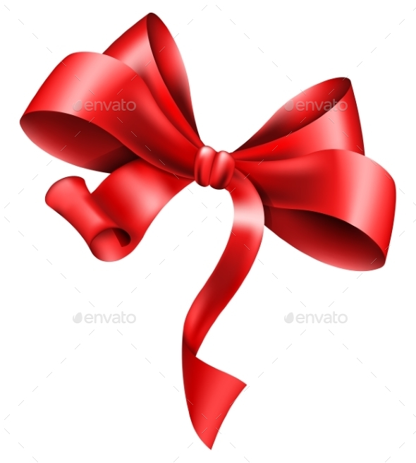 Red Bow - Valentines Seasons/Holidays