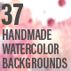 37 Handmade Watercolor Backgrounds - GraphicRiver Item for Sale