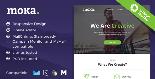Moka – Responsive Email and Newsletter Template