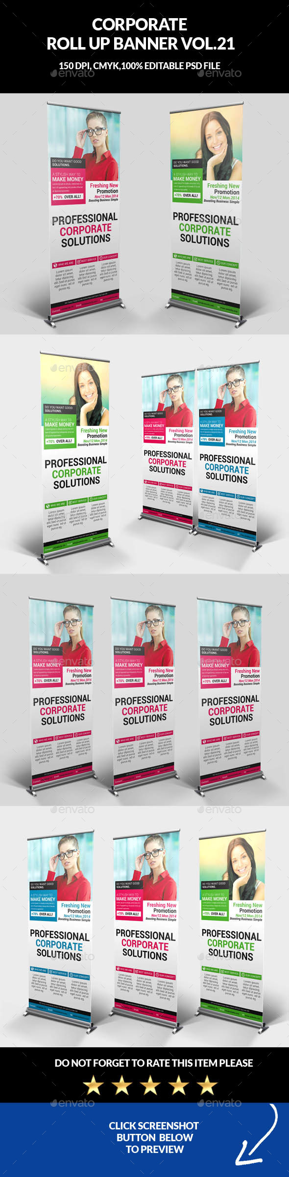 Corporate Business Roll Up Banner Vol.21 - Signage Print Templates