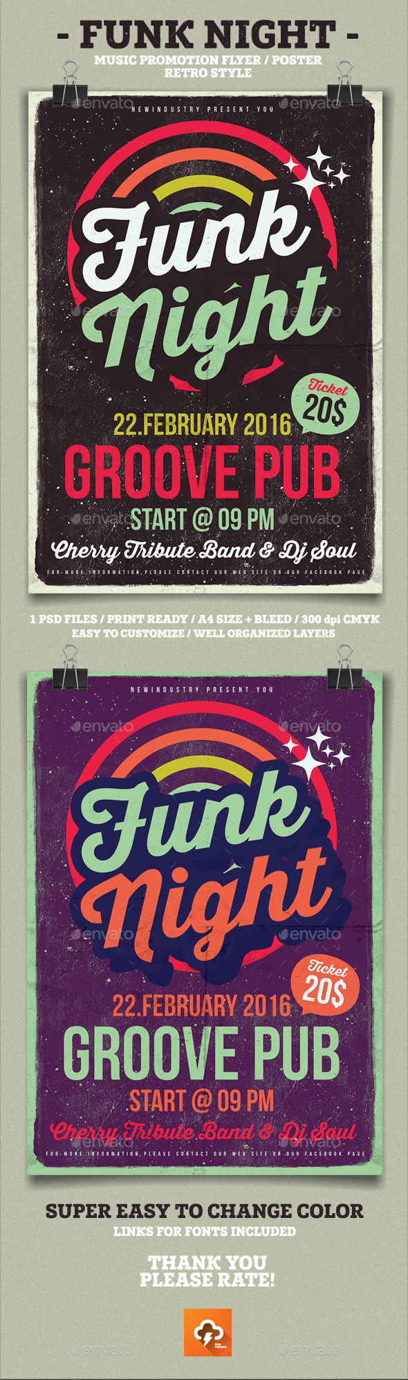 Funk Poster Flyer - Clubs & Parties Events