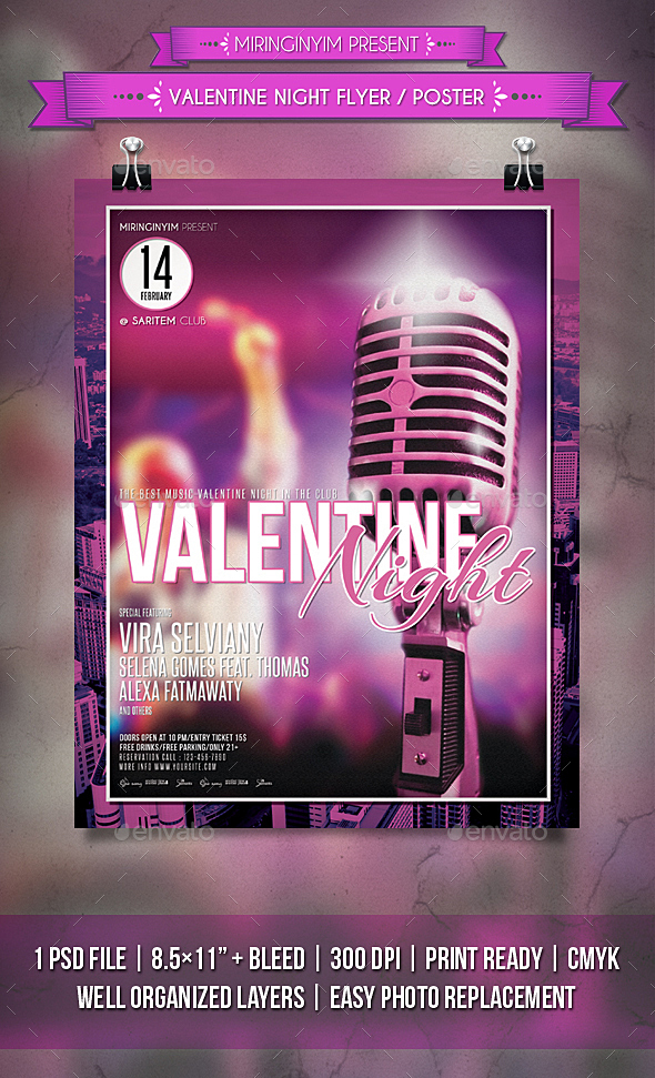 Valentine Night Flyer / Poster - Events Flyers