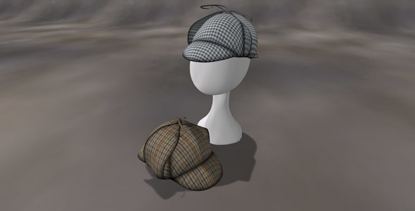 DeerStalker Cap - 3DOcean Item for Sale