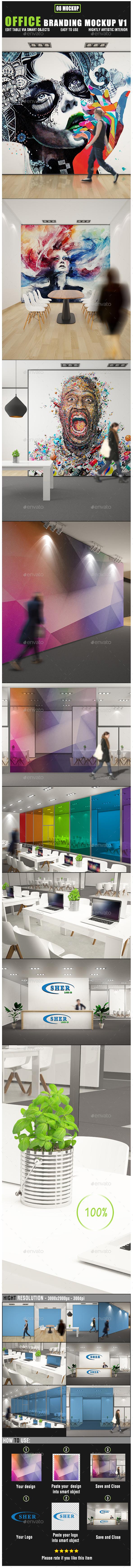 Office Branding Mockup V1 - Posters Print