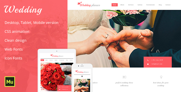 Wedding -Wedding Planner & Wedding Organizer - Corporate Muse Templates