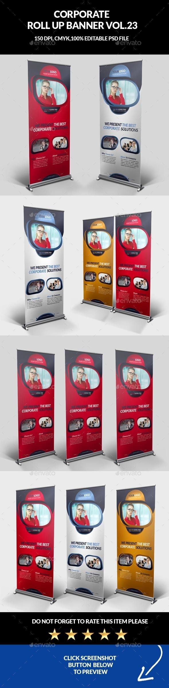 Corporate Business Roll Up Banner Vol.23 - Signage Print Templates
