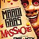 Mardi Gras Massacre Flyer Template - GraphicRiver Item for Sale
