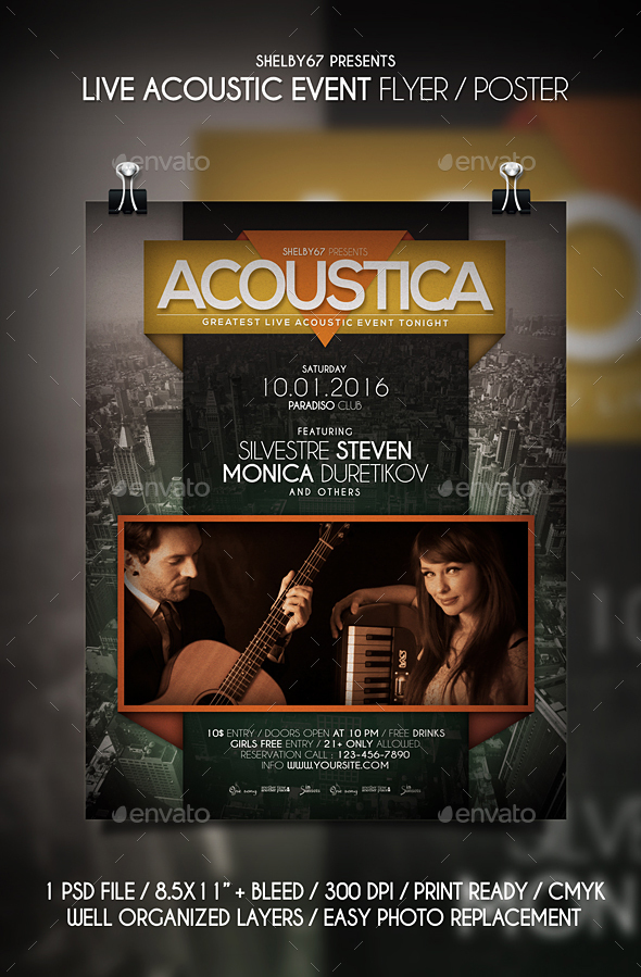 Live Acoustic Event Flyer / Poster - Events Flyers