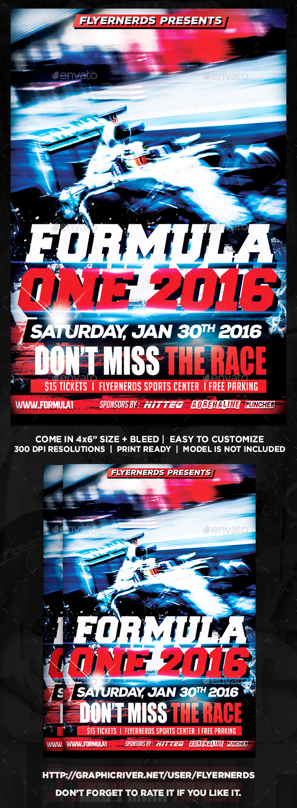Formula One Race Sports Flyer - Sports Events