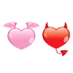 angel and devil hearts - GraphicRiver Item for Sale