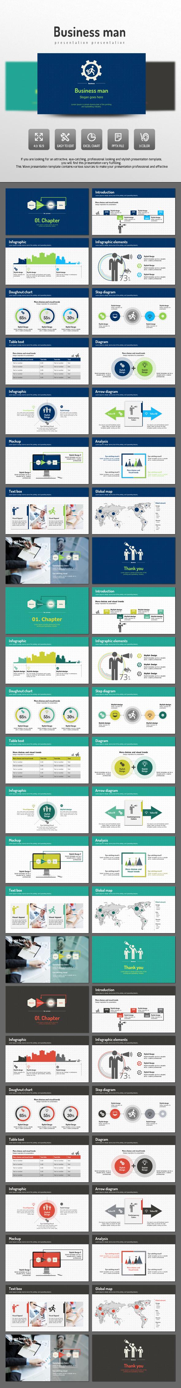 Business Man  - PowerPoint Templates Presentation Templates