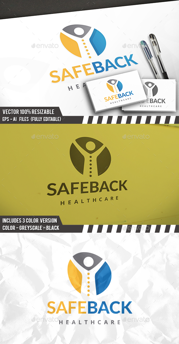 Safe Back Logo - Humans Logo Templates