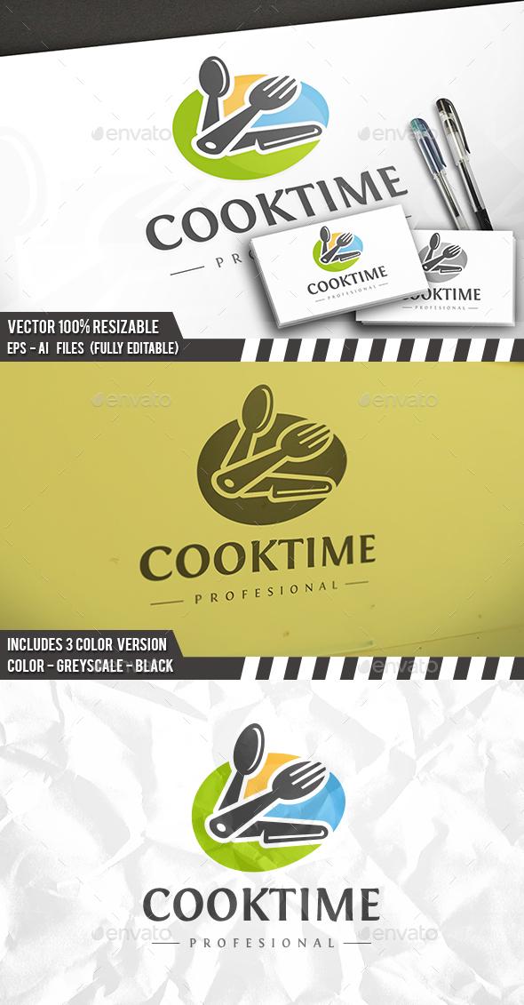 Cook Time Logo - Food Logo Templates