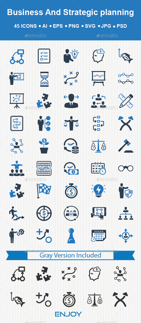 Business Strategy Planning - Business Icons