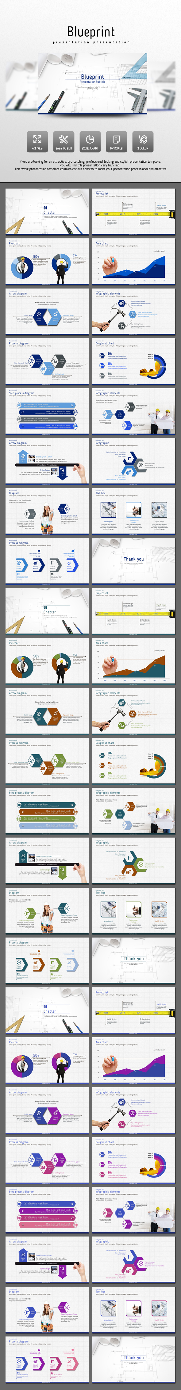 Blueprint - PowerPoint Templates Presentation Templates