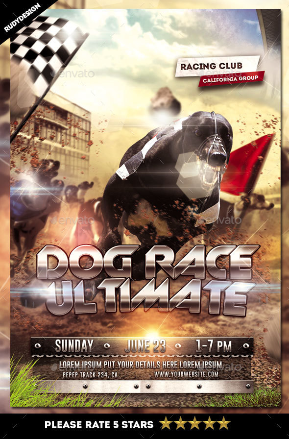 Dog Racing Flyer - Sports Events