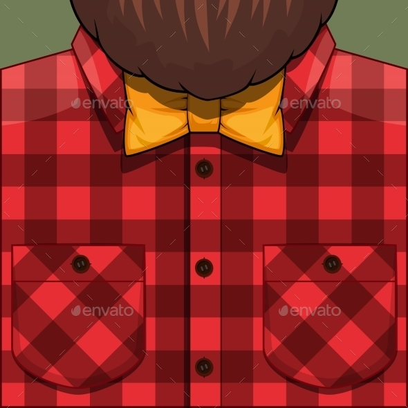 Bearded Man Illustration - People Characters