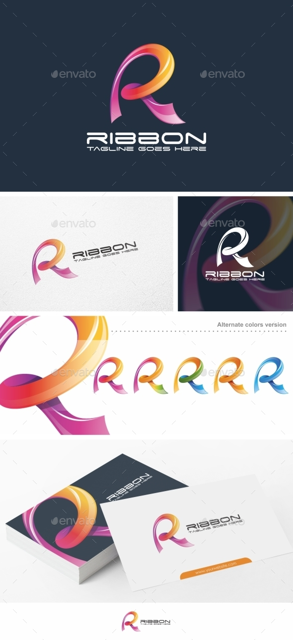 Ribbon r letter logo template by putrapurwanto graphicriver ribbon r letter logo template letters logo templates thecheapjerseys Gallery