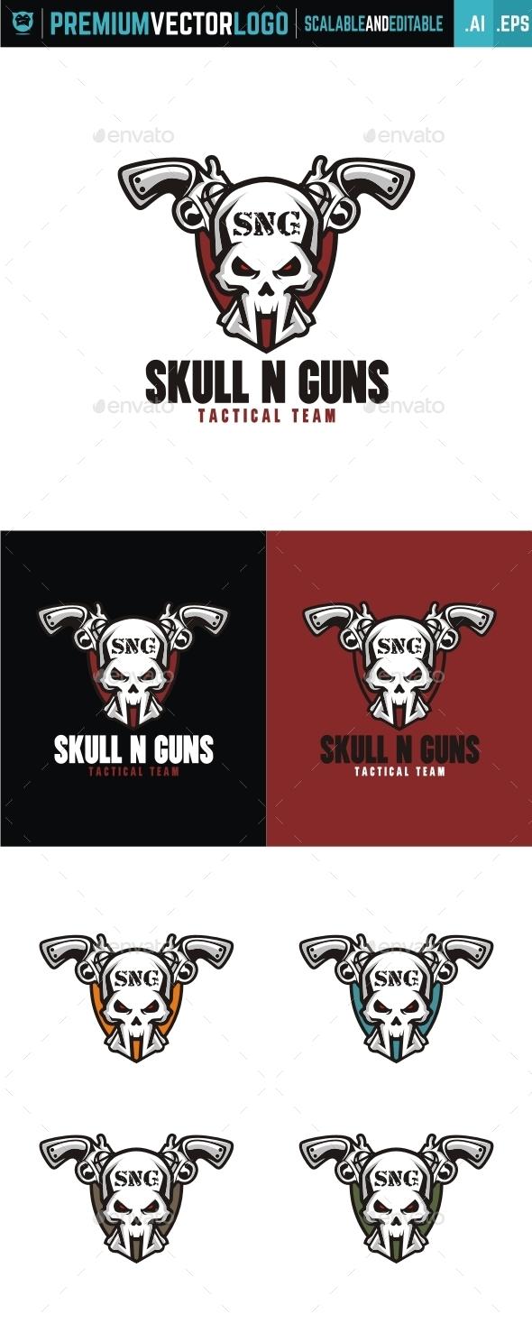 Skull n Guns - Symbols Logo Templates
