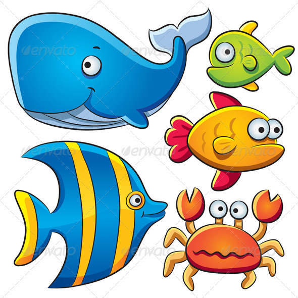 Sea Fish Collection - Animals Characters