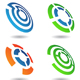 four abstract shapes - GraphicRiver Item for Sale