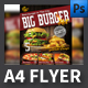 Big Burger A4 Flyer Template - GraphicRiver Item for Sale