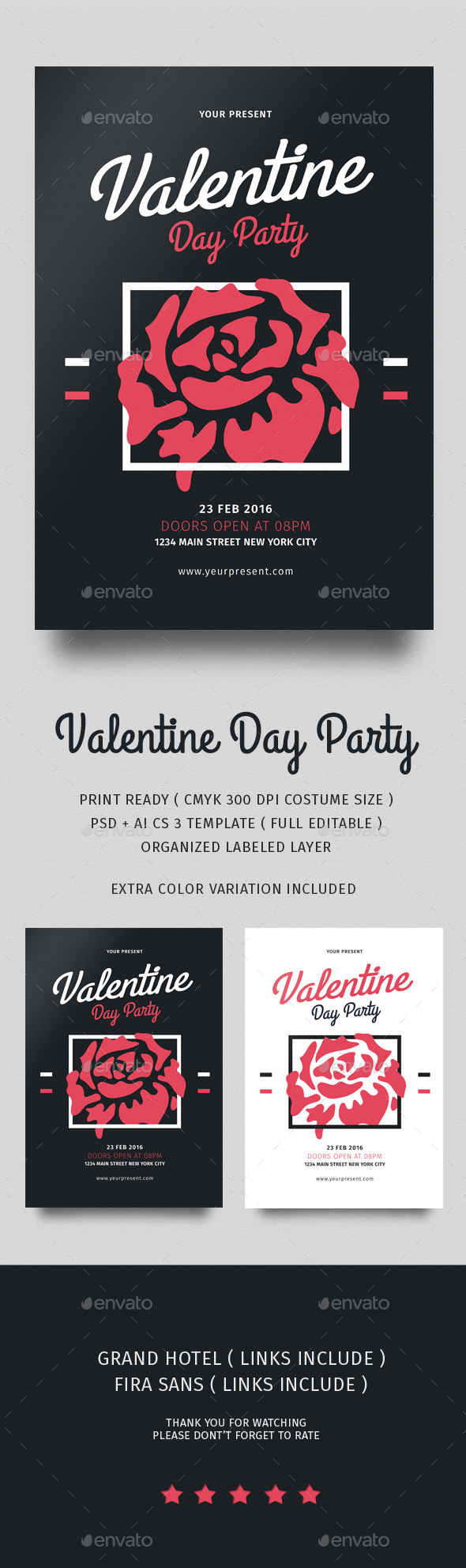 Happy Valentine Flyer - Events Flyers