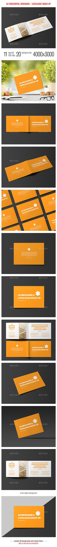 A5 Horizontal Catalogue / Brochure Mock-Up - Brochures Print