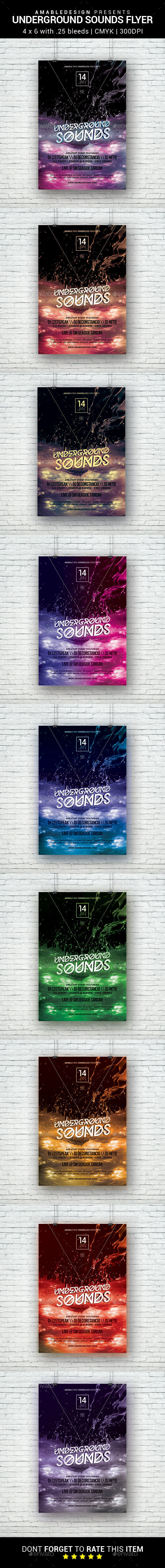 Underground Sounds Flyer - Clubs & Parties Events