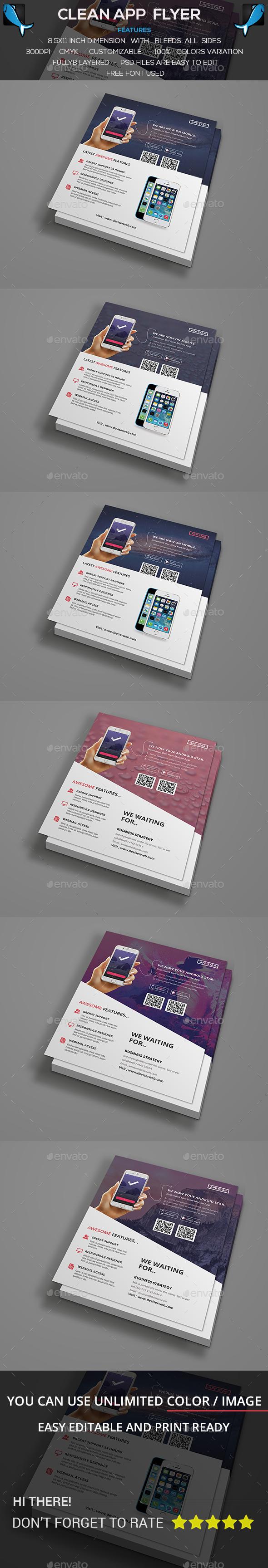App Flyer Template - Corporate Flyers