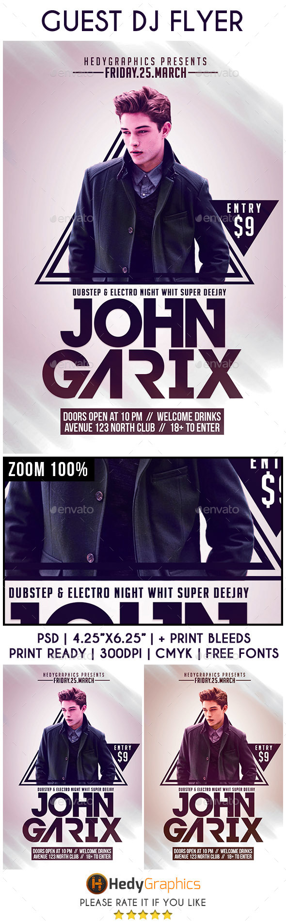 Guest DJ - Flyer Template - Events Flyers