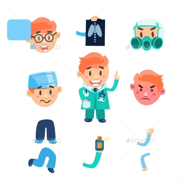 Healthcare Infographic Elements. Vector Set - Health/Medicine Conceptual