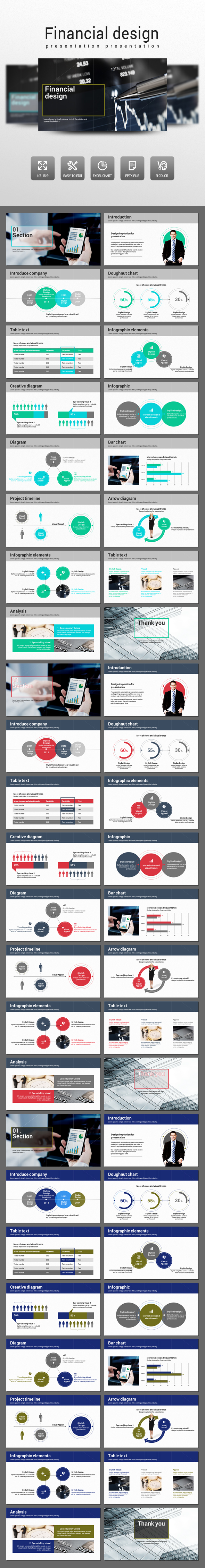Financial design - PowerPoint Templates Presentation Templates